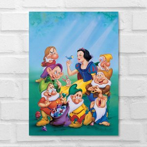 Placa Decorativa - Branca de Neve