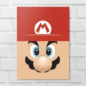 Placa Decorativa - Mario Face