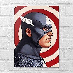 Placa Decorativa - Capitão América Poster