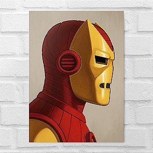 Placa Decorativa - Homem de Ferro Poster