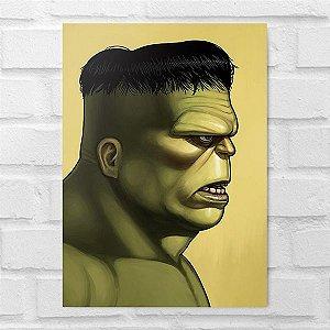 Placa Decorativa - Hulk Poster