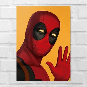 Placa Decorativa - Deadpool Poster