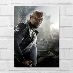 Placa Decorativa - Nick Fury