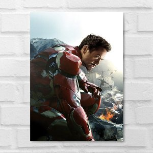 Placa Decorativa - Tony Stark