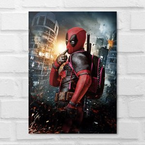 Placa Decorativa - Deadpool