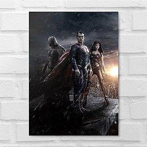 Placa Decorativa - Heróis DC