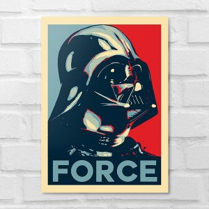 Placa Decorativa - Darth Vader Force