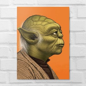 Placa Decorativa - Star Wars Yoda