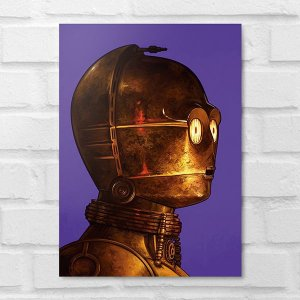 Placa Decorativa -  Star Wars C-3PO