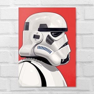 Placa Decorativa - Star Wars O Soldado Clone