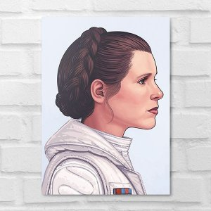 Placa Decorativa - Star Wars Leia Organa