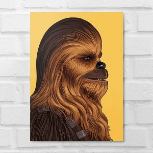 Placa Decorativa - Star Wars Chewbacca