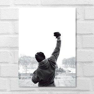 Placa Decorativa - Rocky Balboa Filme