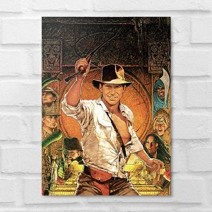 Placa Decorativa - Indiana Jones Poster