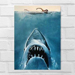 Placa Decorativa - Tubarão Poster