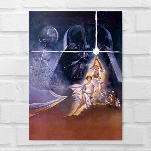 Placa Decorativa - Star Wars Personagens Poster