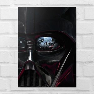 Placa Decorativa - Star Wars Darth Vader Face