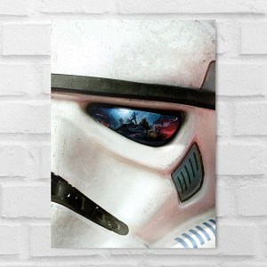 Placa Decorativa - Star Wars Soldado Clone Face