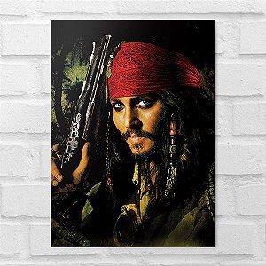 Placa Decorativa - Piratas do Caribe Capitão Jack Sparrow