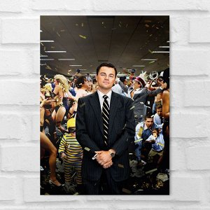 Placa Decorativa - O Lobo de Wall Street