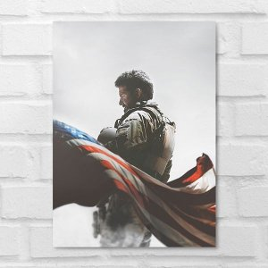 Placa Decorativa - Sniper Americano