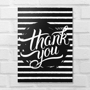 Placa Decorativa - Thank You
