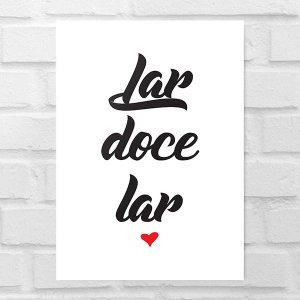 Placa Decorativa - Lar Doce Lar