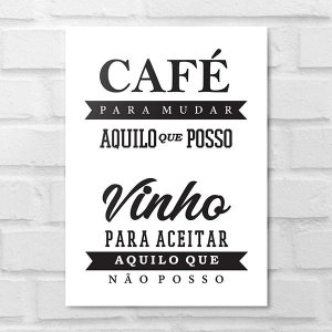 Placa Decorativa - Café Vinho