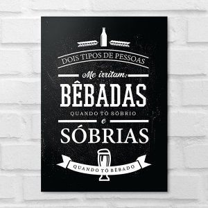 Placa Decorativa - Bêbadas Sóbrias