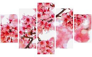 Painel Mosaico Decorativo em 5 partes - Flores 2
