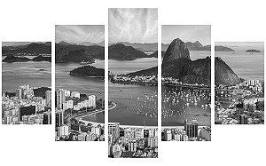 Painel Mosaico Decorativo em 5 partes - Rio