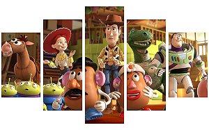 Painel Mosaico Decorativo em 5 partes - Toy Story