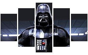 Painel Mosaico Decorativo em 5 partes - Darth Vader