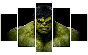 Painel Mosaico Decorativo em 5 partes - Hulk