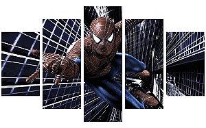 Painel Mosaico Decorativo em 5 partes - Homem-Aranha 1