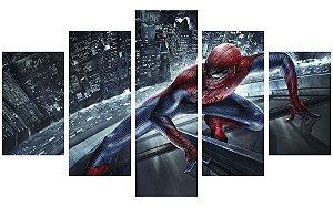Painel Mosaico Decorativo em 5 partes - Homem-Aranha 2