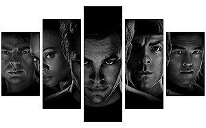 Painel Mosaico Decorativo em 5 partes - Star Trek