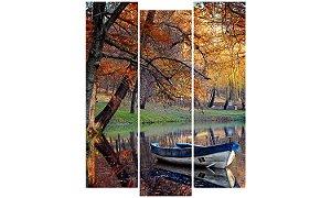 Painel Mosaico Decorativo em 3 partes - Outono