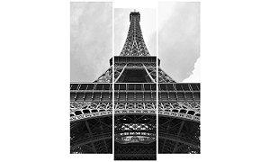 Painel Mosaico Decorativo em 3 partes - Torre Eiffel