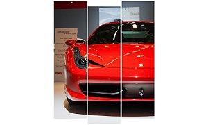 Painel Mosaico Decorativo em 3 partes - Ferrari Frente