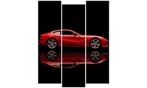 Painel Mosaico Decorativo em 3 partes - Ferrari