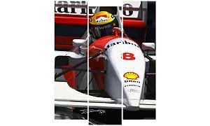 Painel Mosaico Decorativo em 3 partes - Airton Senna
