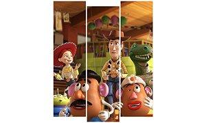 Painel Mosaico Decorativo em 3 partes - Toy Story