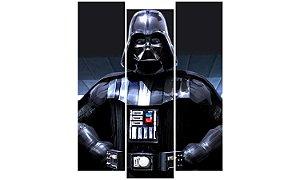 Painel Mosaico Decorativo em 3 partes - Darth Vader