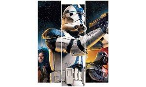 Painel Mosaico Decorativo em 3 partes - Star Wars Personagens