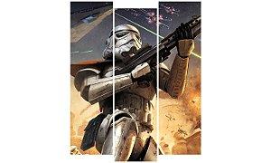 Painel Mosaico Decorativo em 3 partes - Star Wars Soldado Clone
