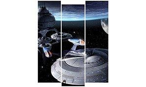 Painel Mosaico Decorativo em 3 partes - Naves Espaciais
