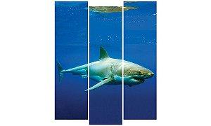 Painel Mosaico Decorativo em 3 partes - Tubarão