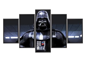 Quadro Mosaico Darth Vader em 5 partes