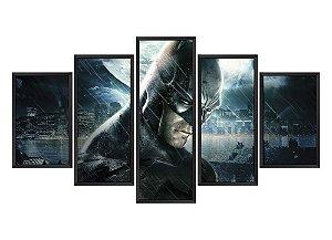 Quadro Mosaico Batman em 5 partes